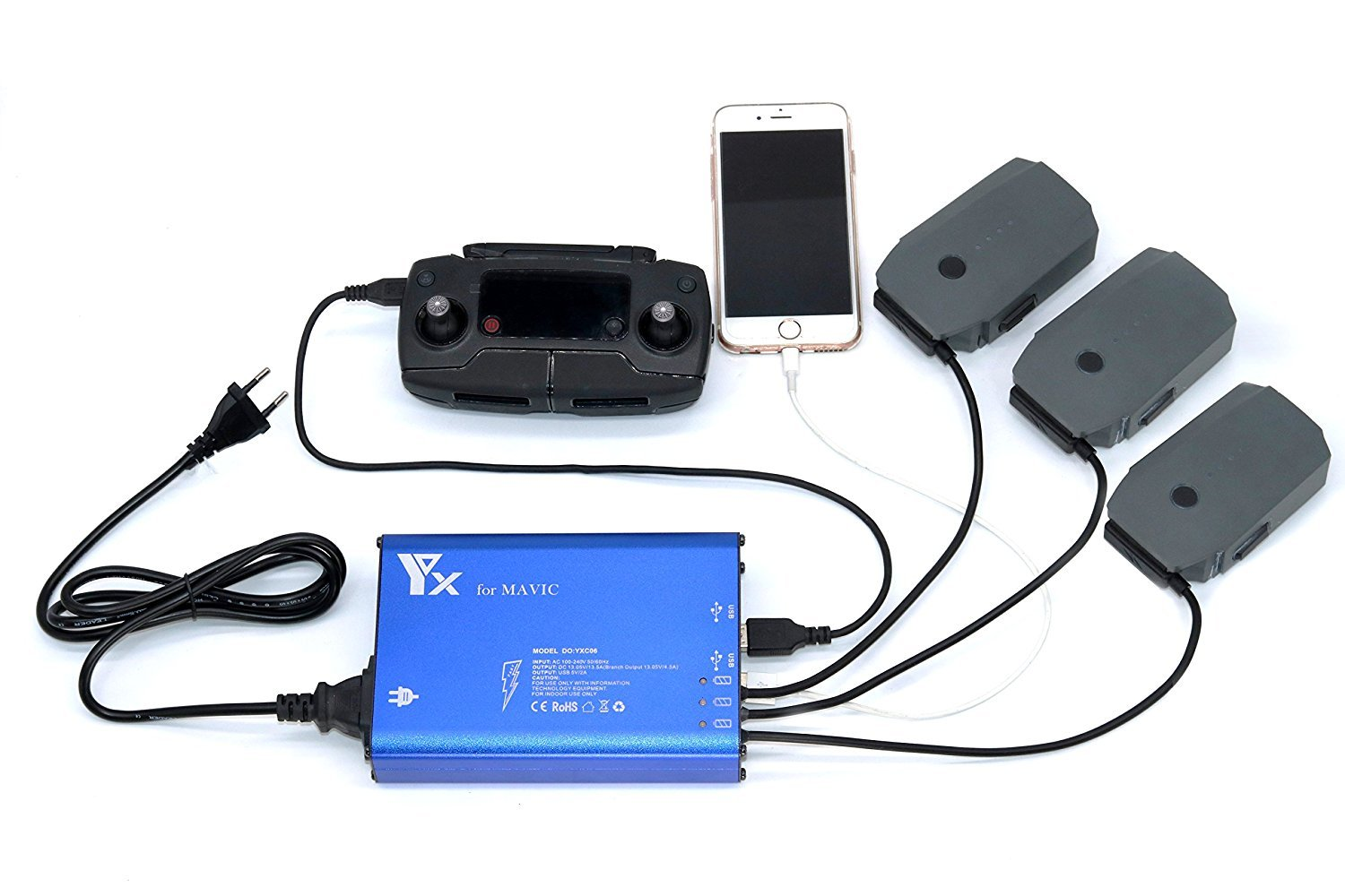 Signstek 5 in 1 Drone Charger B-0314-01