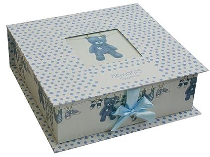 Para recién nacido de recuerdos Memory Box~azul Baby Boy adorno de ...