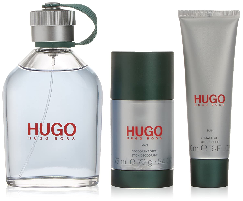 Hugo Man Eau De Toilette Spray 125ml Set 3 Pieces Hugo Boss 54299