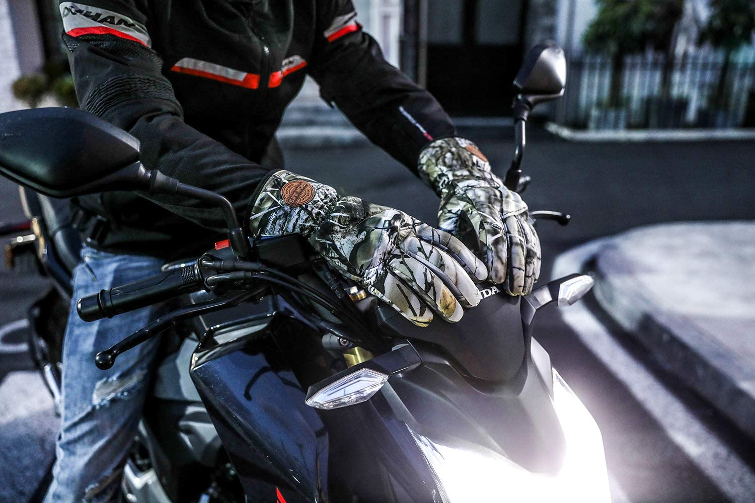 Waterproof Motorcycle Gloves Winter Warm Fiber Hard Knuckle With Touch Screen Function Motorcycle Gloves