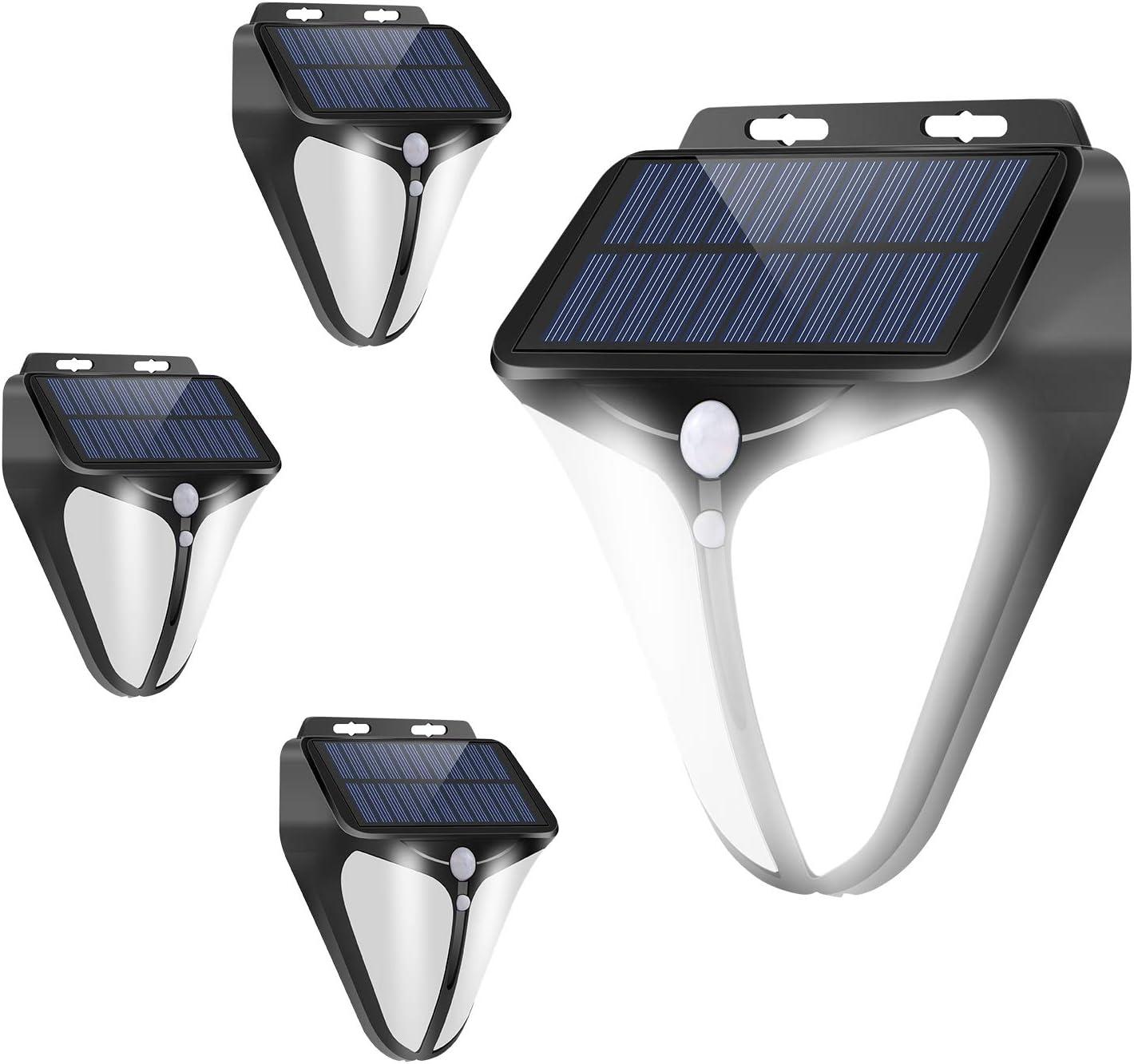 A-ZONE Solar Motion Sensor Light Outdoor, 200 Lumens Wireless Motion Sensor Lights,IP66 Waterproof Wall Light Easy-to-Install Security Lights for Garden Patios Lawns,or Viewing Decks