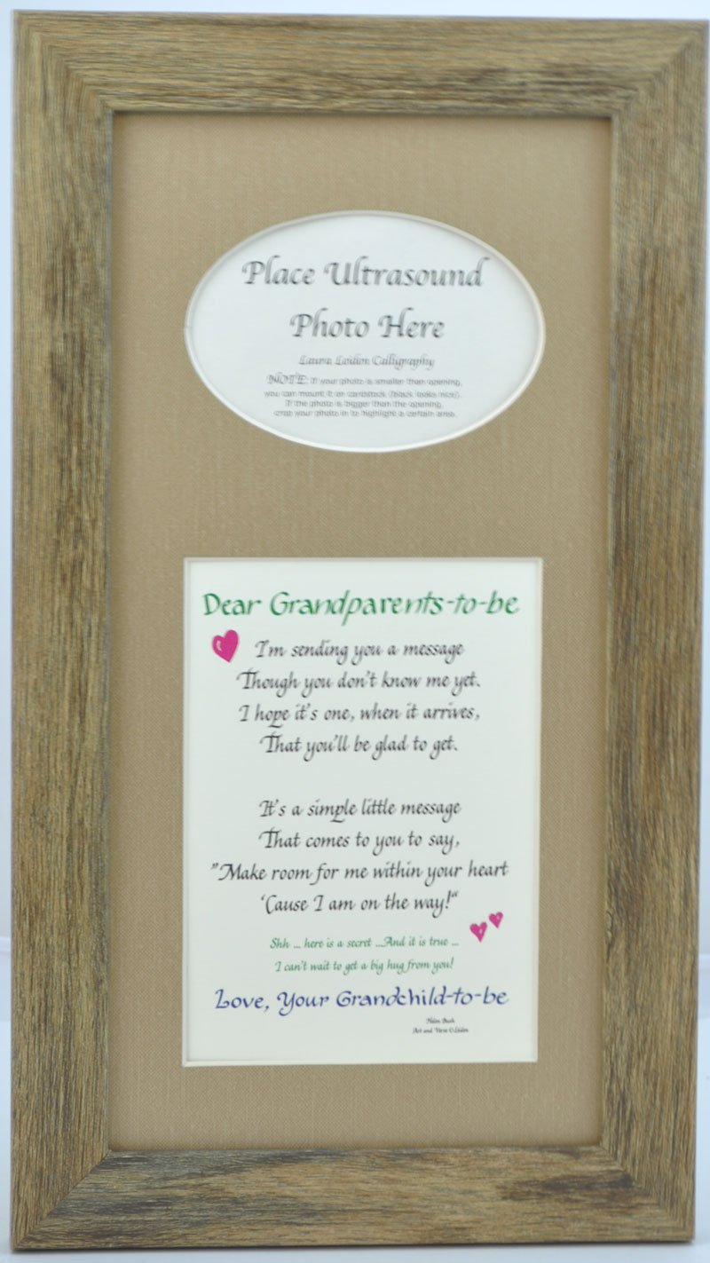 Amazoncom Grandparents To Be Ultrasound Picture Frame With