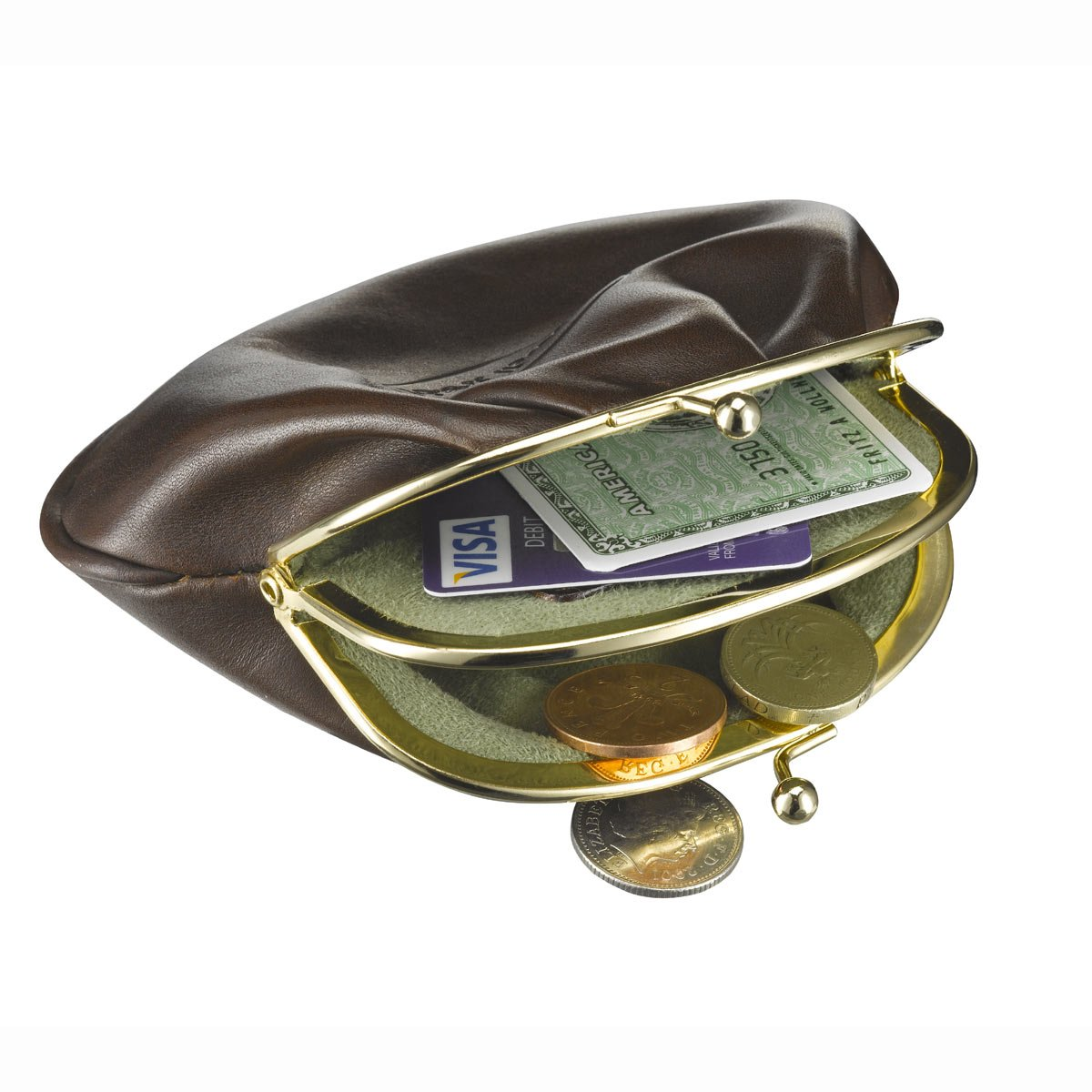 Maxwell Scott Luxury Black Leather Coin Purse / Wallet - One Size (The Sabina) by Maxwell Scott Bags