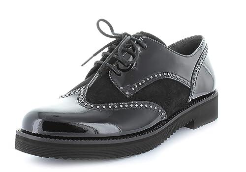 es Y Con Mujer Amazon Zapatos De Charol Cordones Gabor O0wgq0