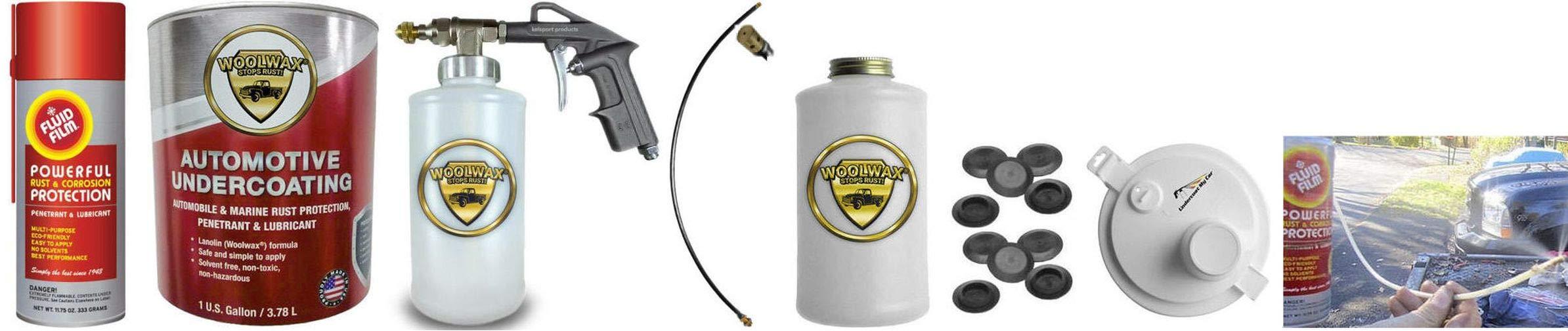Fluid Film & Woolwax 1 Gallon Undercoating Kit Bundle w/PRO Gun. Black Color.