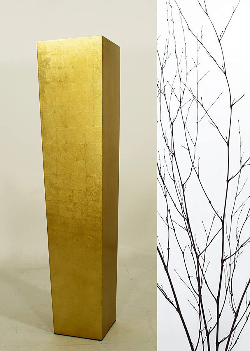 "Green Floral Crafts 30"" Tapered Tall Floor Vase - Gold Vase & DIY Branches Kit"