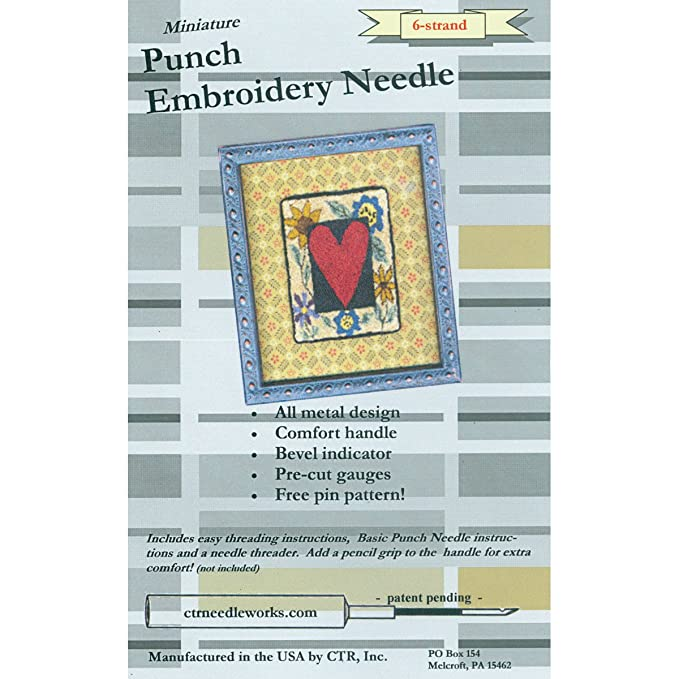 Amazon Ctr Ndl 6 Miniature Punch Embroidery Needle 6 Strand Black