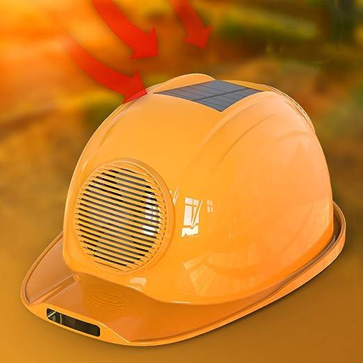 Elektrisch Pr/üfung Schutz Helm zum Eisenbahn Umfrage KAMELUN Sicherheit Helm Draussen Konstruktion Schwer Hut Deckel mit K/ühlung Cool Ventilator