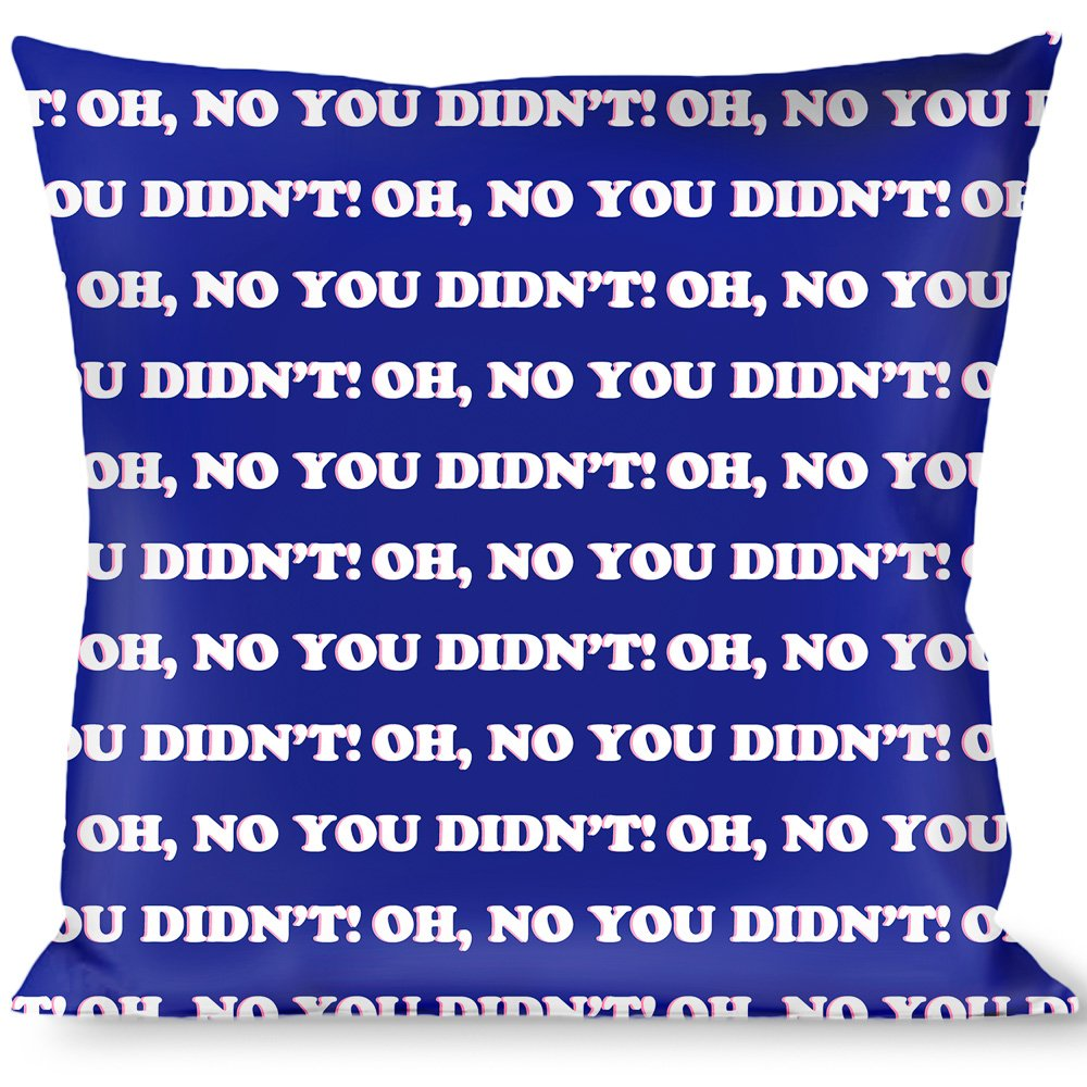 Buckle Down OH NO You Didnt Navy//Purple//White Throw Pillow Multicolor