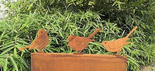 Zen Man - Juego de 3 Figuras de jardín de Acero Oxidado: Amazon.es: Jardín