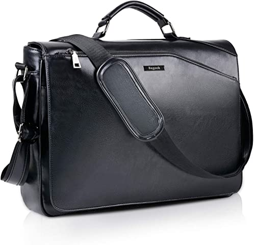 Bageek Men Bag 15.6 Men Briefcase Laptop Bags PU Leather Messenger Bags for Men Shoulder Bags