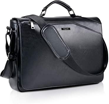 "Men/'s Faux Leather Business Messenger Shoulder bag Briefcase 14/"" Laptop Bag"