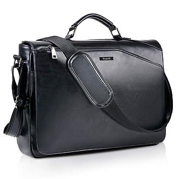 b012c3f52b979 Bageek Umhängetasche Herren Taschen Messenger Bag 15.6   Laptoptasche  Schultertasche Aktentasche PU Leder Herren Taschen