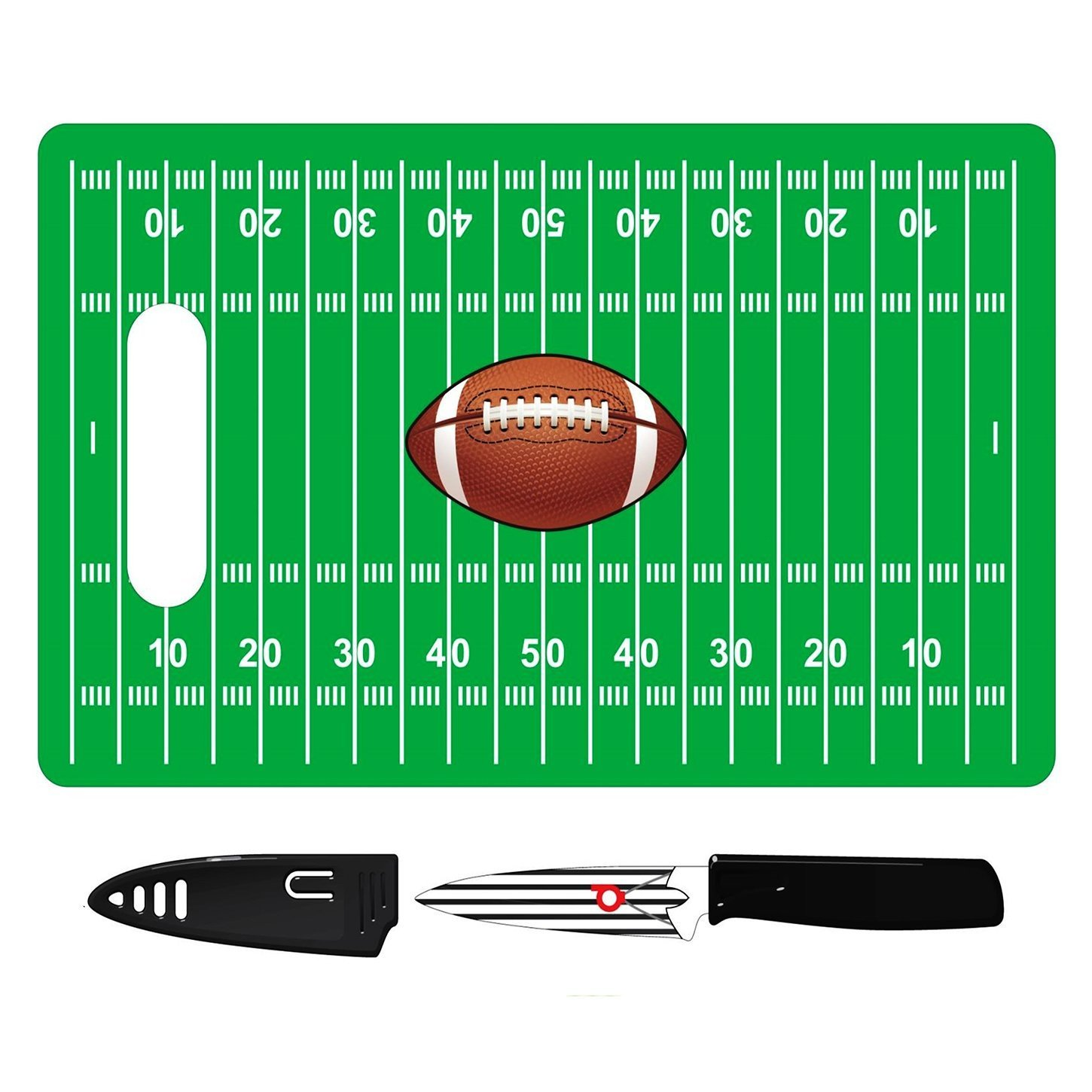Unique Football Party Supplies Gift Football Cutting Board Tailgating Gear Party Supplies Football