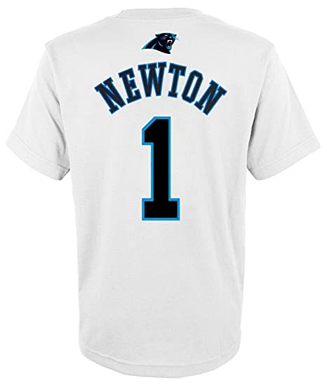 Outerstuff Cam Newton Carolina Panthers  1 White Youth Mainliner Name    Number T Shirt ( d6af5cc71