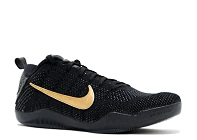 new arrival 2680c 8675f Nike Kobe 11 FTB Black/Black-Metallic Gold 869459-001