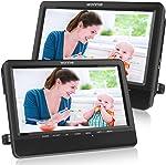 WONNIE 10'' Dual Car DVD Player Portable Headrest CD Players for