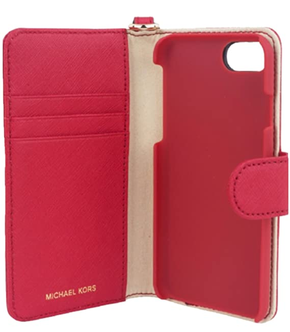 timeless design 2a1dc 52c47 Amazon.com: Michael Kors Folio Case For iPhone X, Bright Red: Cell ...