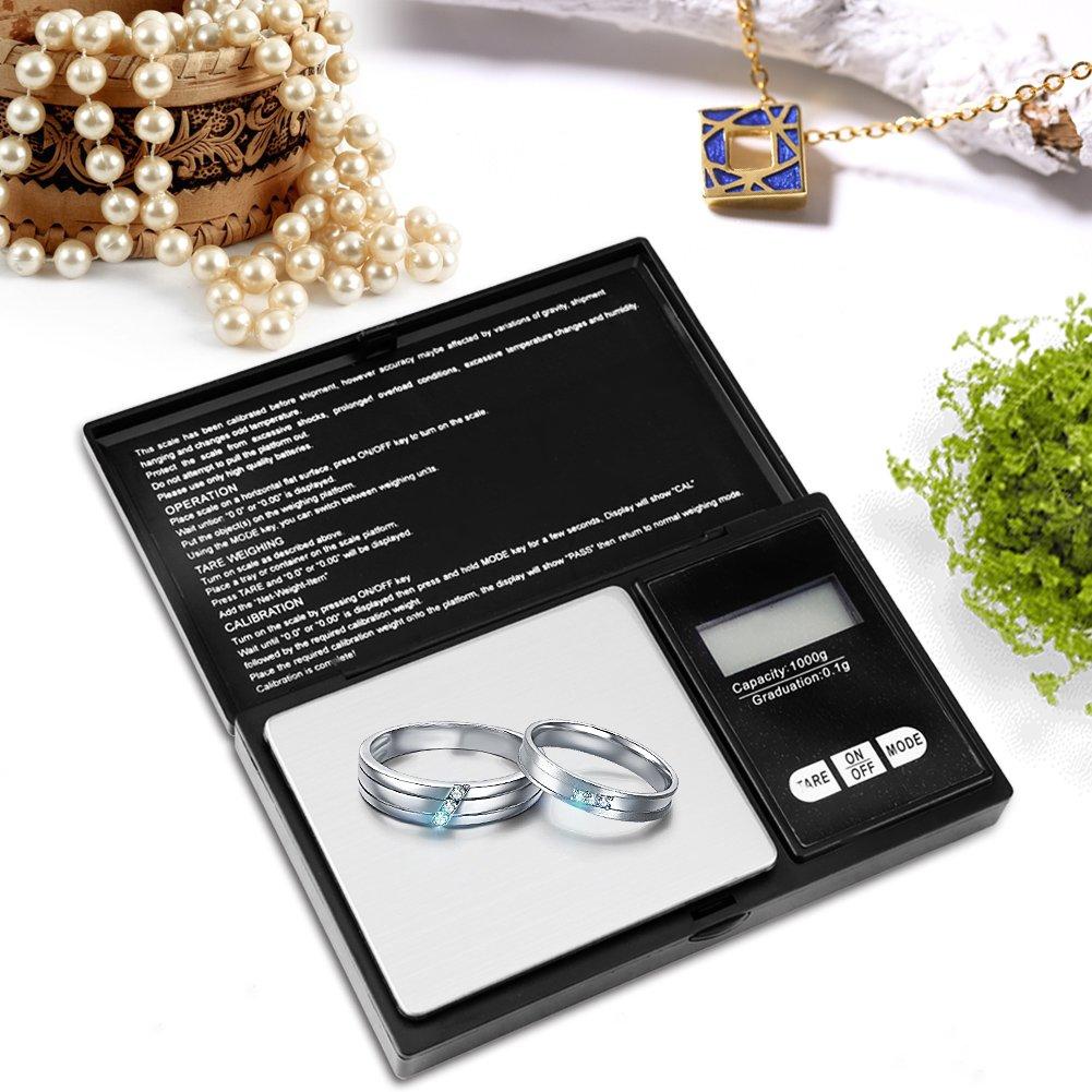 B/áscula de la Precisi/ón Electr/ónica Escala de Mini Joyer/ía Digital LED B/áscula 100g//0.01g