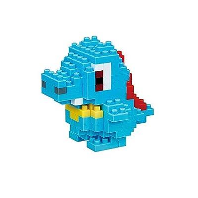Totodile Nanoblock Pocket Monsters + Gift Tweezers Plastic Cube Building Blocks (Smartoys): Toys & Games