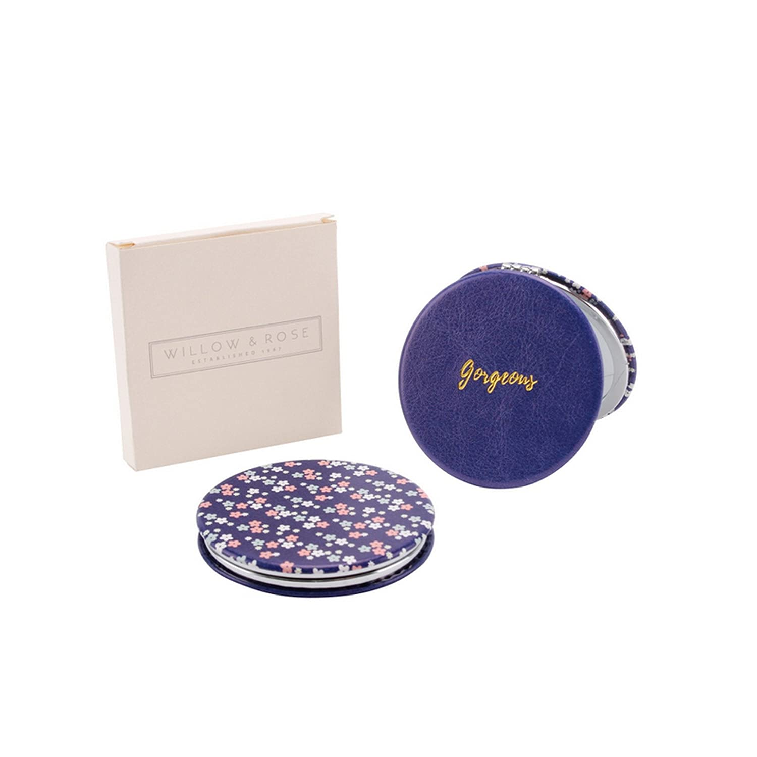 CGB Giftware Willow And Rose Gorgeous Compact Mirror (One Size) (Blue) UTCB659_1