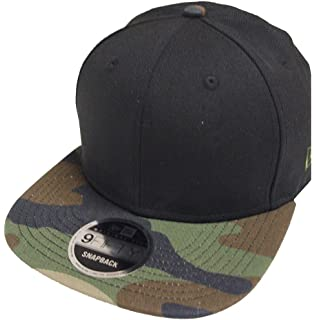 83f35a162c6f New Era Blank Black Camo Snapback Cap 9fifty 950 Original Fit Blanko Kappe  Mens