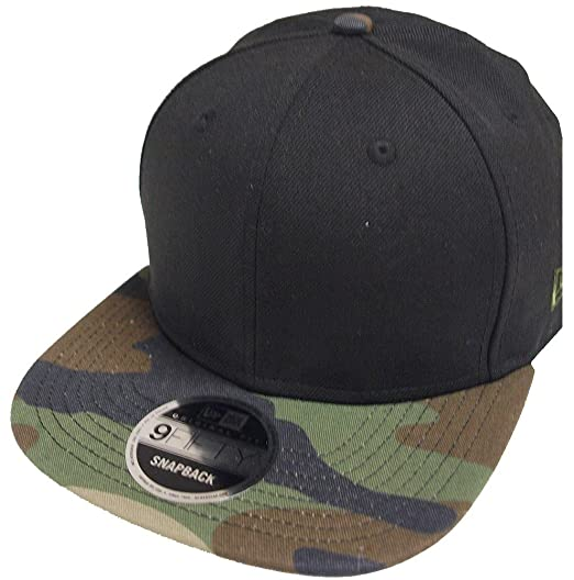 Image Unavailable. Image not available for. Color  New Era Blank Black Camo  Snapback Cap 9fifty ... 1b908c8c17d0