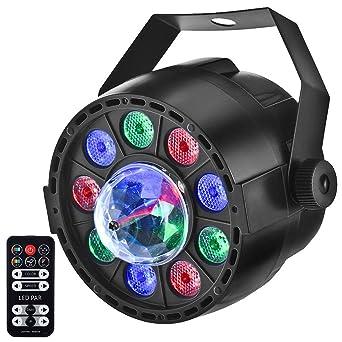 Eyourlife Luz de Escenario Par LED Luz de Discoteca RGB DMX 512 Luz DJ de Etapa ...