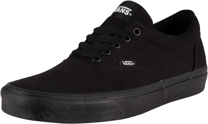 black on black low top vans