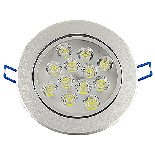 240V Bright Perfect Lamps PCS CE 220V White Ceiling Saving 12W Besdata Day 6 Light UK High Power for Replacing Super Energy Spot Light LED WD29HIE