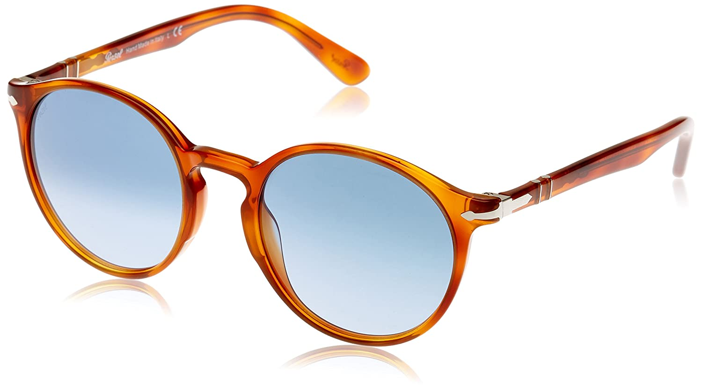2155af77dfc59 Persol Men s PO3171S Sunglasses Terra Di Siena Azure Gradient Blue 52mm at  Amazon Women s Clothing store