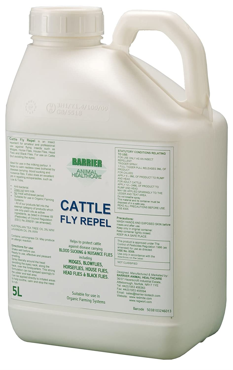 Barrier Cattle Fly Repel x 5 Lt