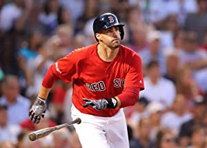J.D. Martinez Boston Red Sox Poster Print, ArtWork, Real Player, Baseball Player, J.D. Martinez Decor, Posters for Wall, Canvas Art SIZE 24''x32'' (61x81 cm)