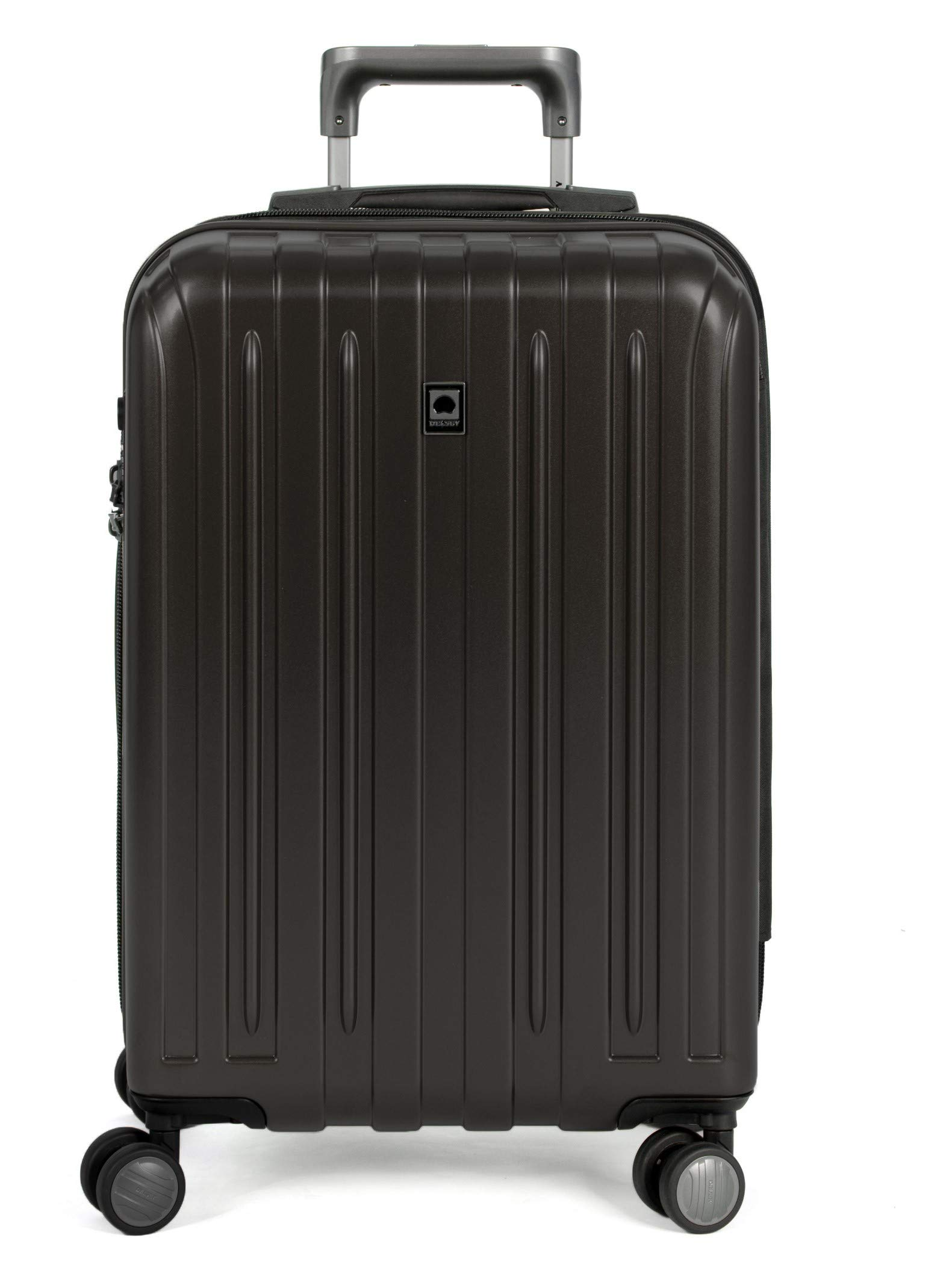 DELSEY Paris Titanium Hardside Expandable Luggage with Spinner Wheels, Black, Carry-On 21 Inch