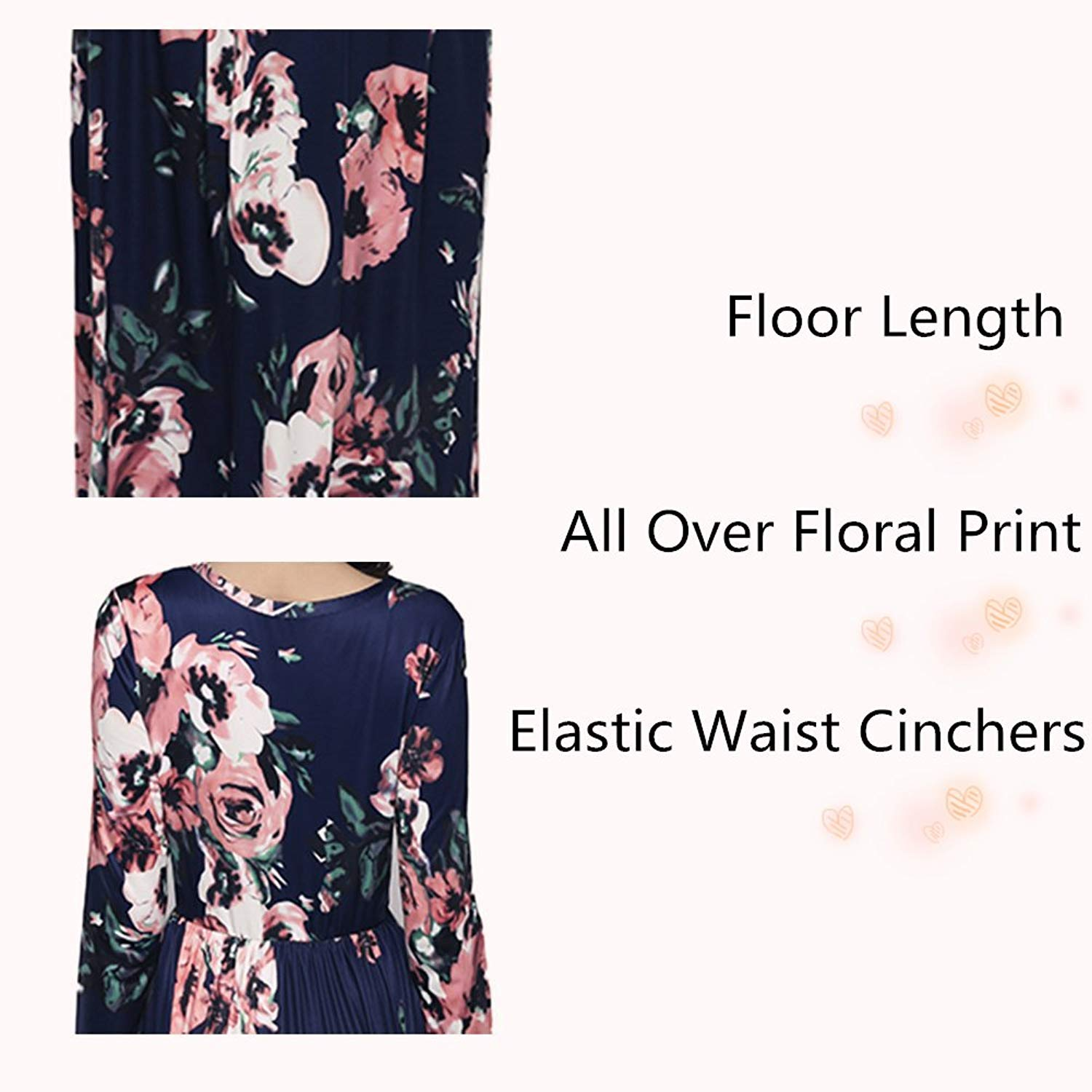 00ddda9fde66 BeLady Womens Floral Maxi Dress Long Sleeve Floor Length Party Dresses at  Amazon Women s Clothing store