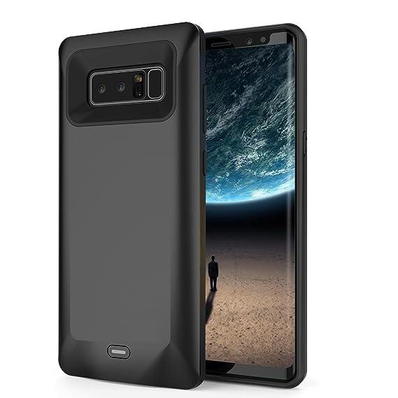 Funda Cargador de para Galaxy Note 8, 5500 mAh Slim batería extendida Recargable Caso, Externo portátil Batería Power Banco Carga Funda para Samsung ...