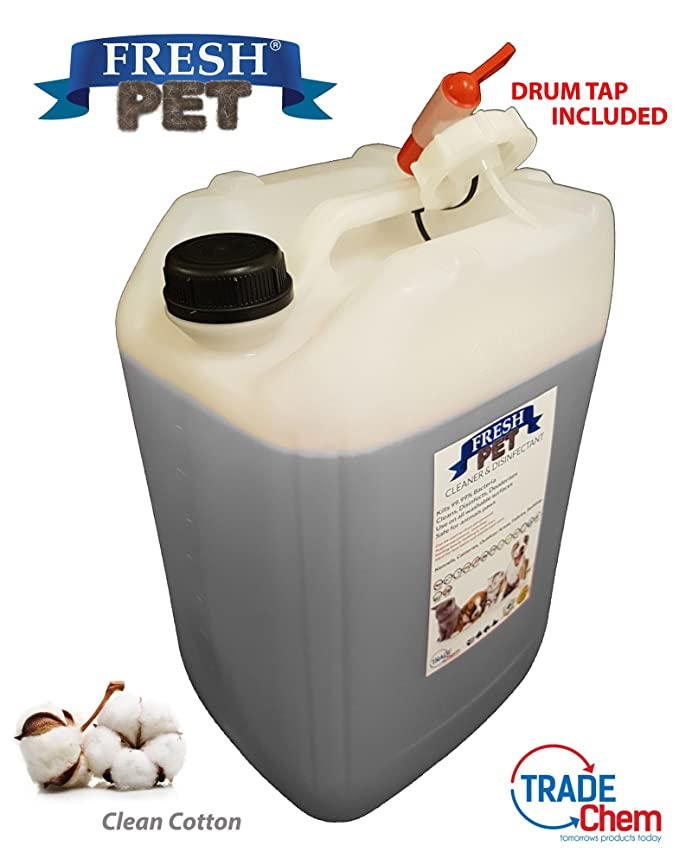 20L de Fresh Pet para la caseta del perro / desinfectante de gato, limpiador, ambientador (hierba): Amazon.es: Productos para mascotas