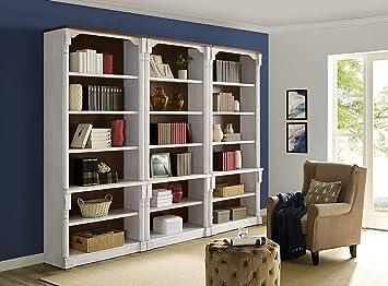 Martin Furniture 3 Open bookcase, White
