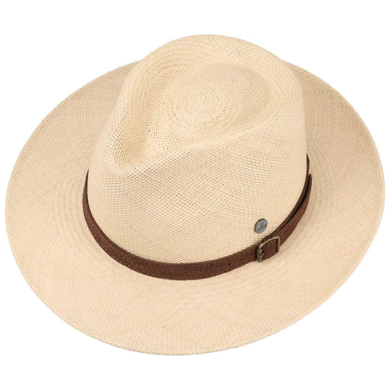 Piel Primavera//Verano Made in Ecuador Sol con Banda Piel Lierys Sombrero de Paja Panam/á Rustic by Hombre