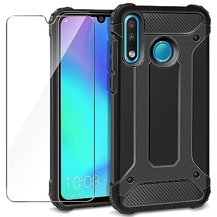 AROYI Funda Huawei P30 Lite + Protectores de Pantalla in Cristal Templado, Robusta Carcasa Híbrida TPU+PC de Doble Capa Anti-arañazos Caso para Huawei ...