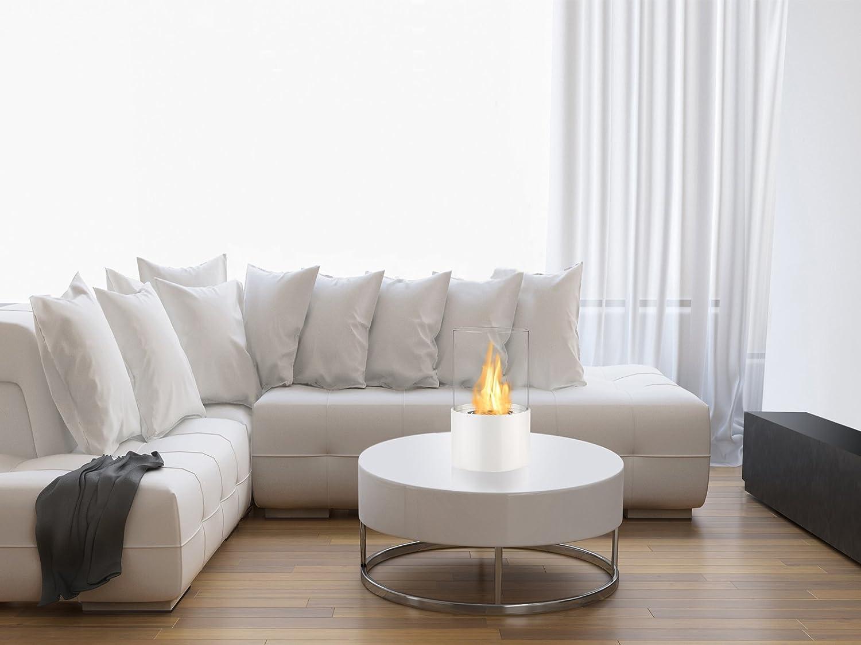 amazon com ignis circum black tabletop ventless ethanol fireplace