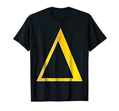 Amazon Gold Delta T Shirt 4th Letter Alphabet Triangle Symbol