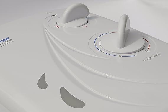 Triton Seville - Ducha eléctrica (10,5 kW), color blanco: Amazon.es: Bricolaje y herramientas
