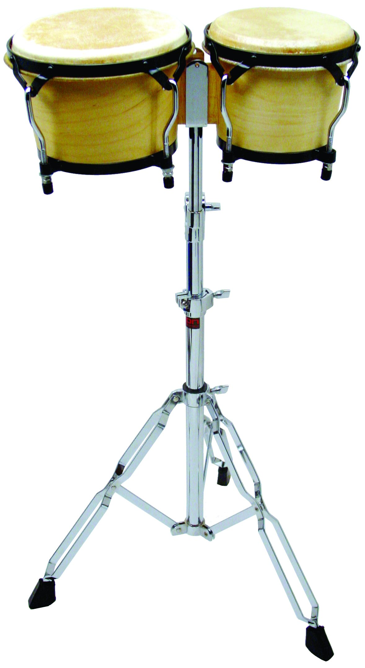 Westco Adjustable Height Metal Bongo Stand (H33-45in; Drums not Included)