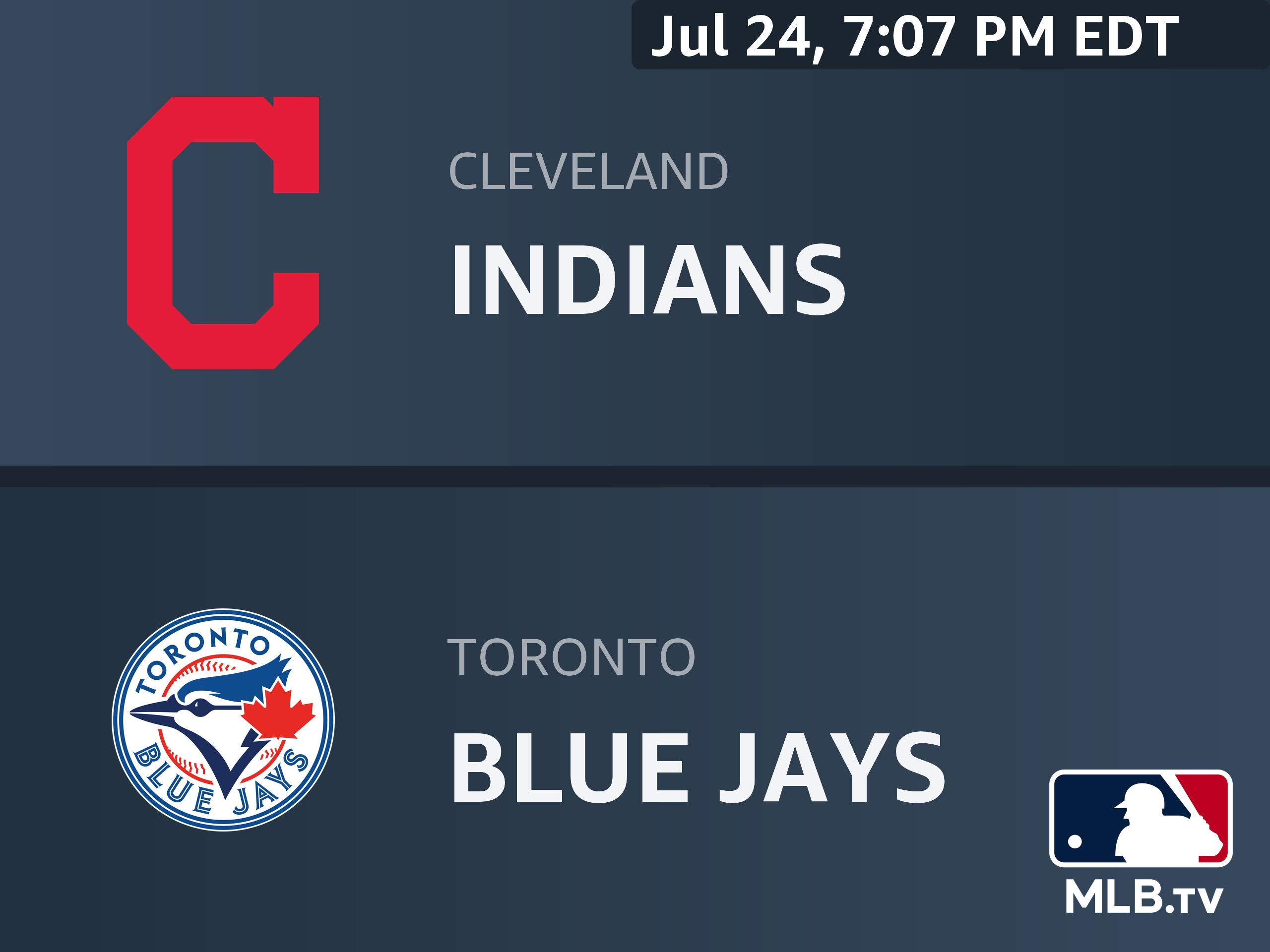 Watch Cleveland Indians At Toronto Blue Jays Prime Video