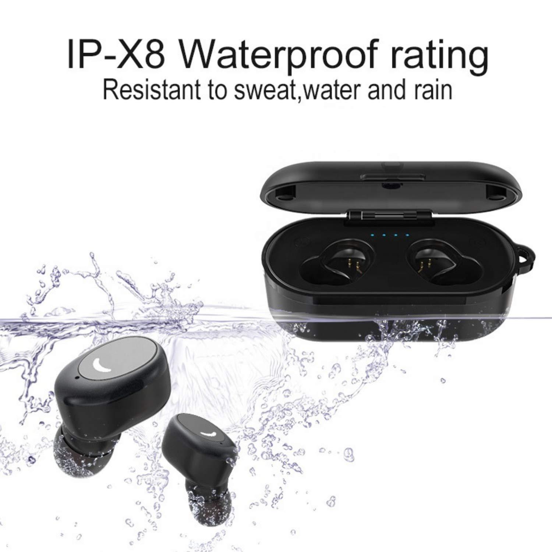 True Wireless Earbuds TWS Bluetooth 5.0 Earbuds True Wireless Earbuds Stereo Noise Cancelling Headphones IPX8 Waterproof Wireless Charging Case Bluetooth Headset Premium Sound for Running Sports etc.