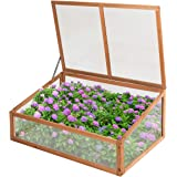 Giantex Wood Cold Frame Garden Greenhouse Raised Bed Protective Planter for Vegetable and Flowers, Indoor and Outdoor…