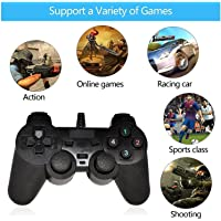Prime Deals 2.0 Gamepad Single Vibration Dual Joystick Gamepad Wired Game Controller for Laptop PC (Black)