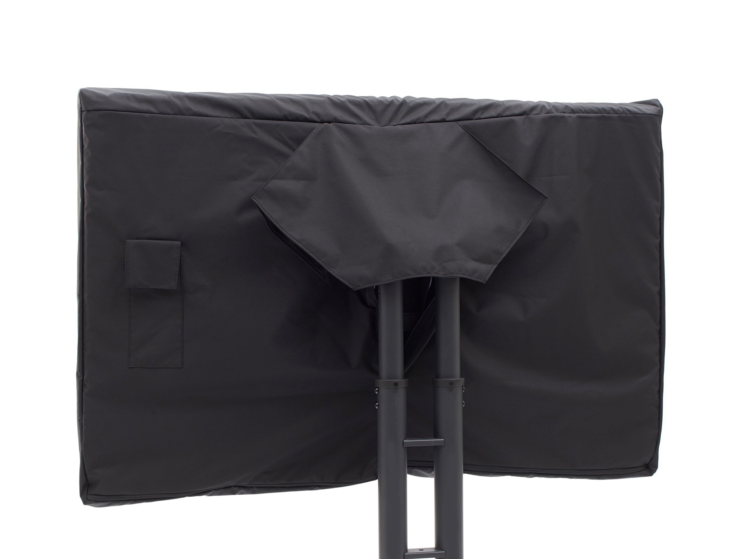 CoverMates - Outdoor TV Cover - Fits 46 to 49 Inch TV's - Elite - 300 Denier Stock-Dyed Polyester - Full Coverage - Front Interior Fleece Lining - 3 Year Warranty - Water Resistant - Black