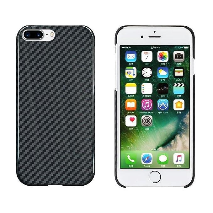 iPhone 8 Plus Case, JAYEGT Cabon Fiber Glossy Iphone 8 Plus Case
